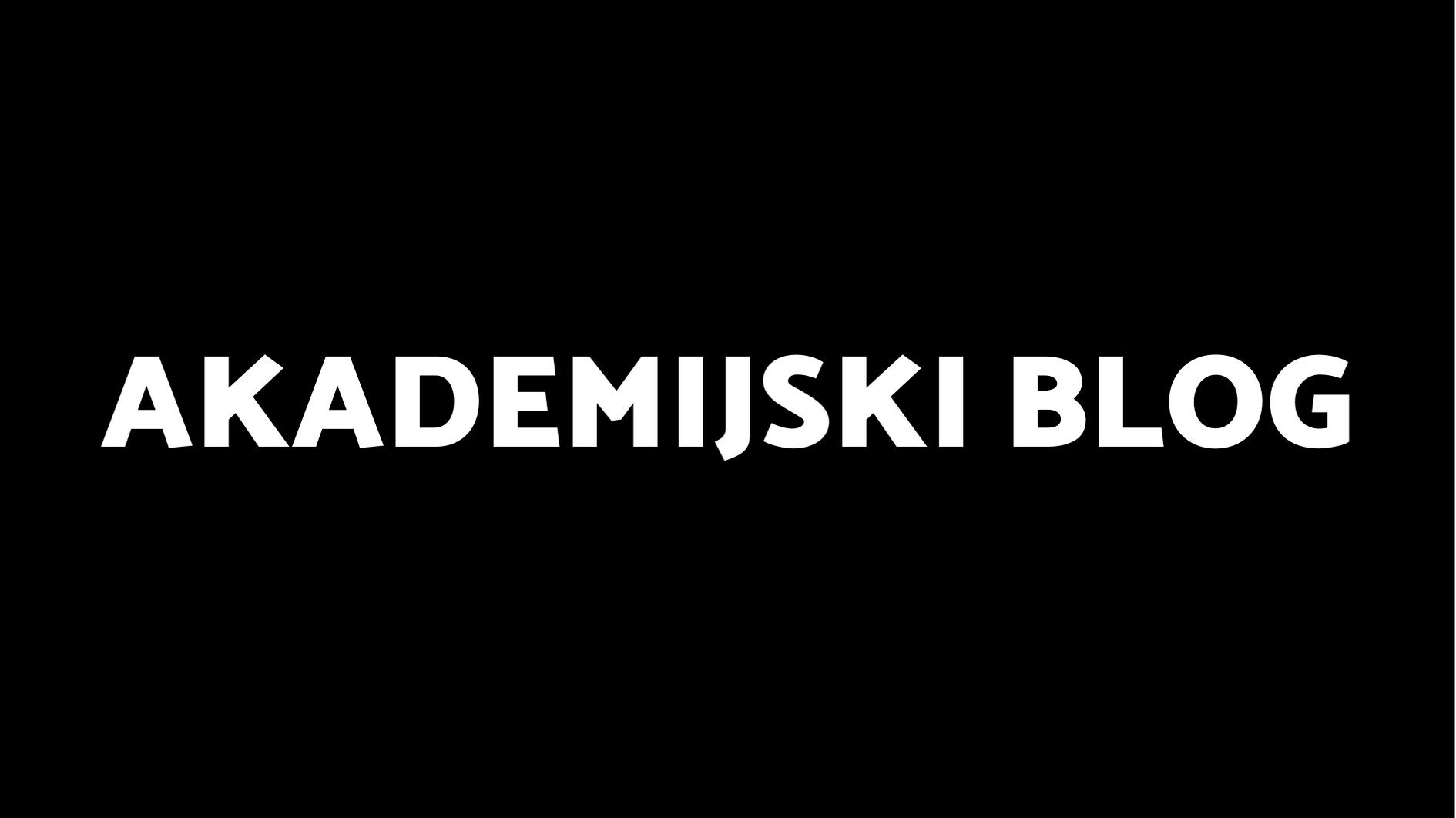 Akademijski blog